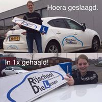 Ellis van Noppen in 1 keer geslaagd voor haar Rijbewijs bij Rijschool Dielessen