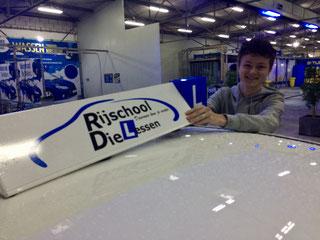 Robbie Hersbach ook in 1 keer geslaagd voor zijn Rijbewijs bij Rijschool Dielessen.